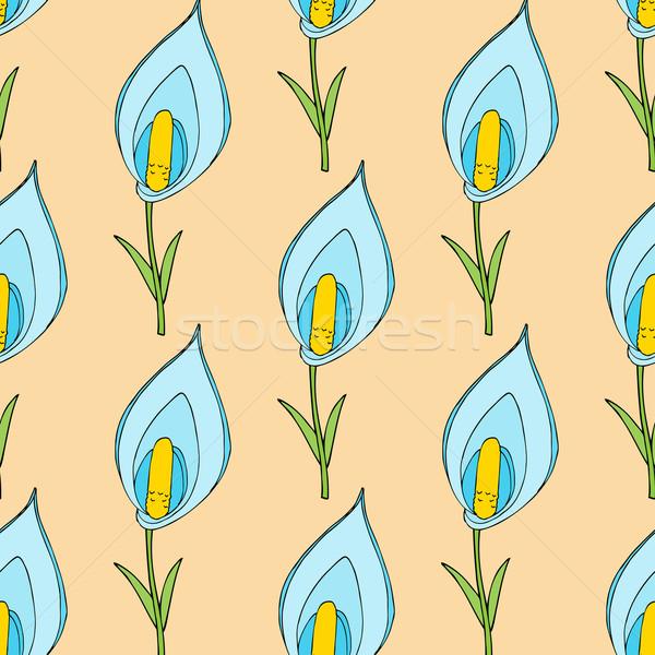 Floral flores flor papel textura moda Foto stock © frescomovie