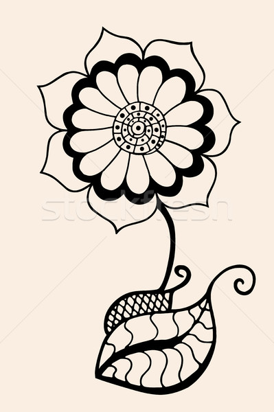 Sketch of abstract flower Stock photo © frescomovie