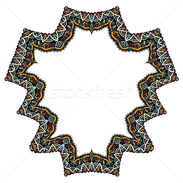 Set of geometric frame Stock photo © frescomovie
