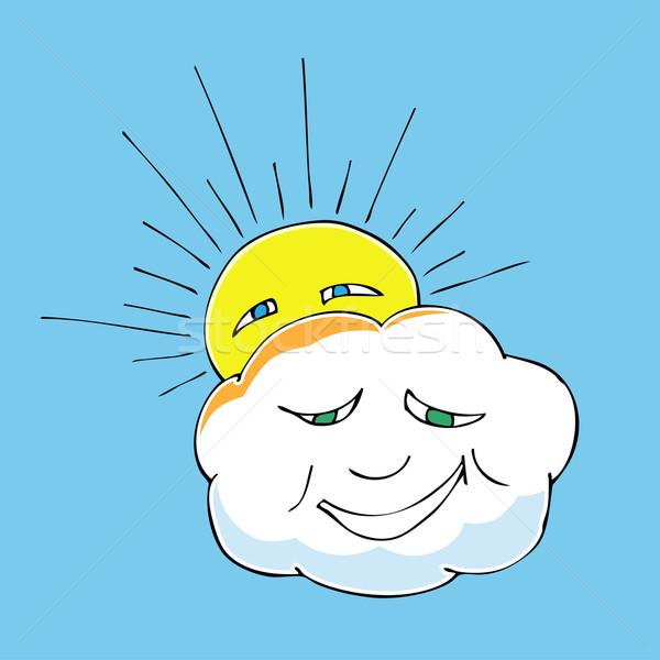 cloud and sun Stock photo © frescomovie