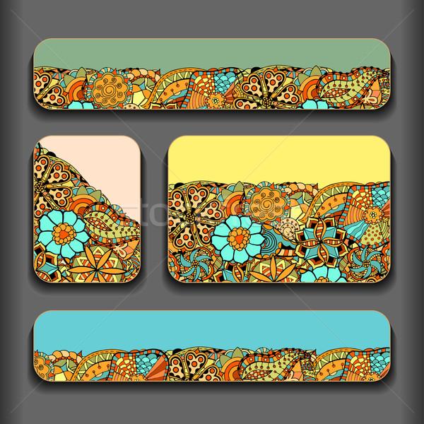 Abstract pattern cards set Stock photo © frescomovie
