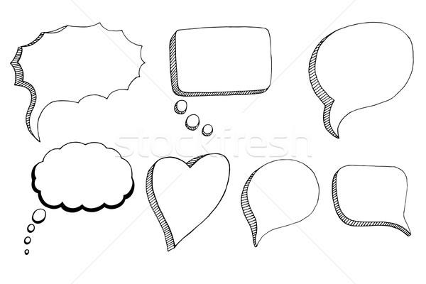 Doodle Speech Bubbles Stock photo © frescomovie