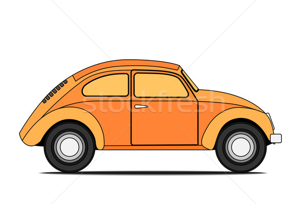 Sarı araba eski araba yalıtılmış spor renk Stok fotoğraf © frescomovie