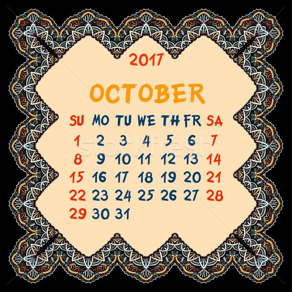 календаря год вектора дизайна печать шаблон Сток-фото © frescomovie