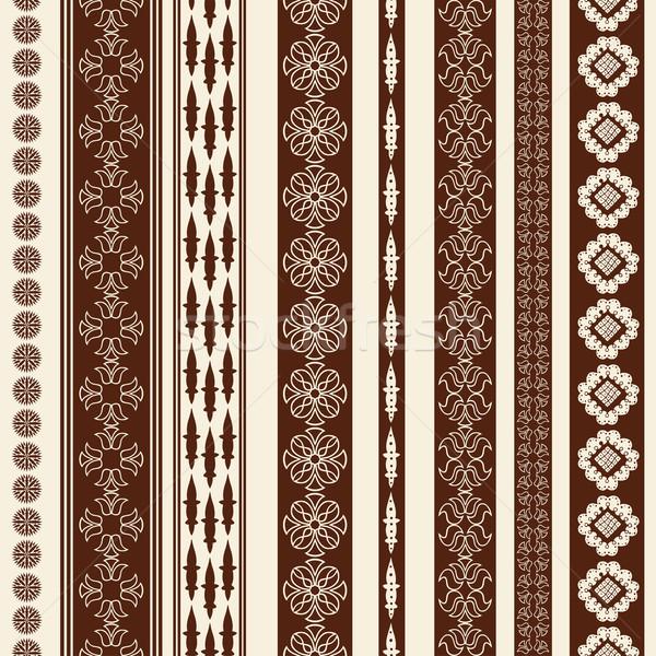 Border decoration elements Stock photo © frescomovie