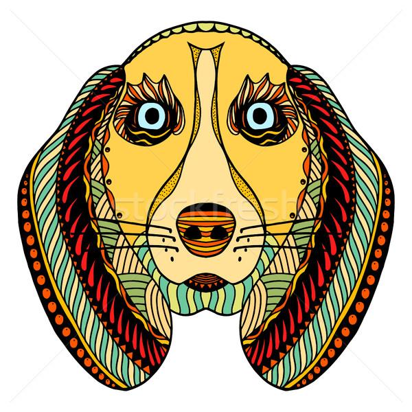 dog zentangle head Stock photo © frescomovie