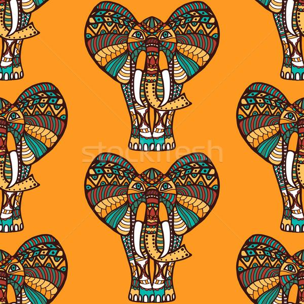 African seamless pattern Stock photo © frescomovie