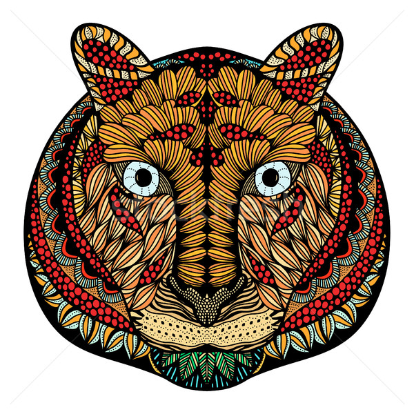 Tiger head vector Stock photo © frescomovie