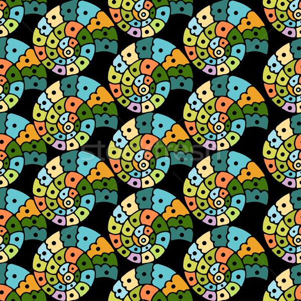 Vektor végtelenített díszes minta körvonal illusztráció Stock fotó © frescomovie