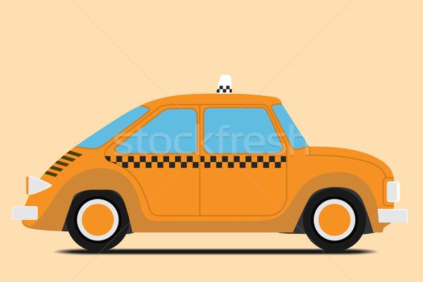Bağbozumu taksi araba görüntü yalıtılmış dizayn Stok fotoğraf © frescomovie