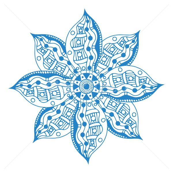 Stockfoto: Blauw · mandala · etnische · decoratief · communie