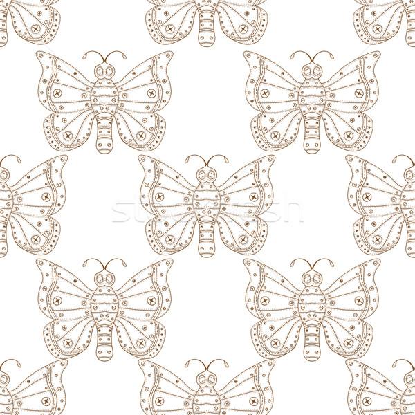 pattern with butterflies Stock photo © frescomovie