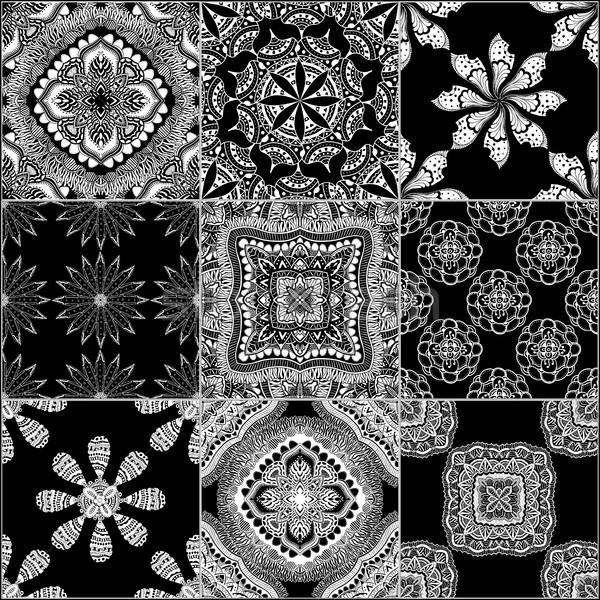 монохромный геометрический набор вектора фоны Сток-фото © frescomovie