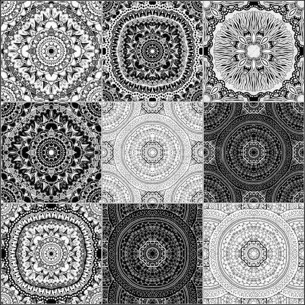 黒白 幾何学的な タイル セット ベクトル ストックフォト © frescomovie
