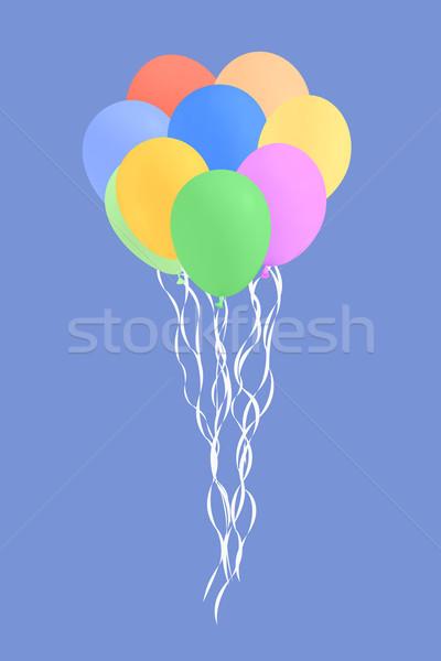 セット カラフル 誕生日パーティー 風船 実例 空 ストックフォト © frescomovie