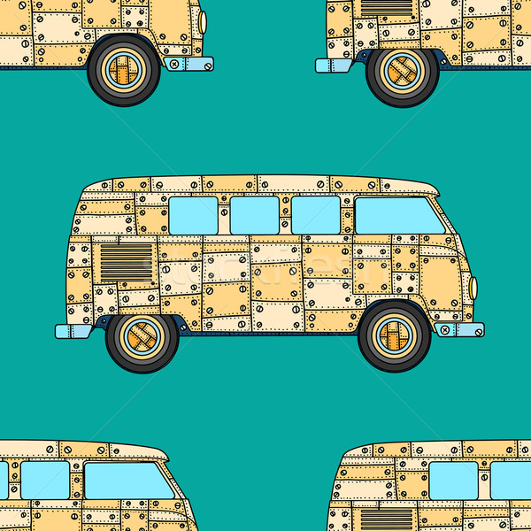Pattern of Vintage car Stock photo © frescomovie