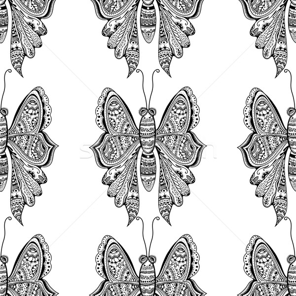 stylized brown Butterfly Stock photo © frescomovie
