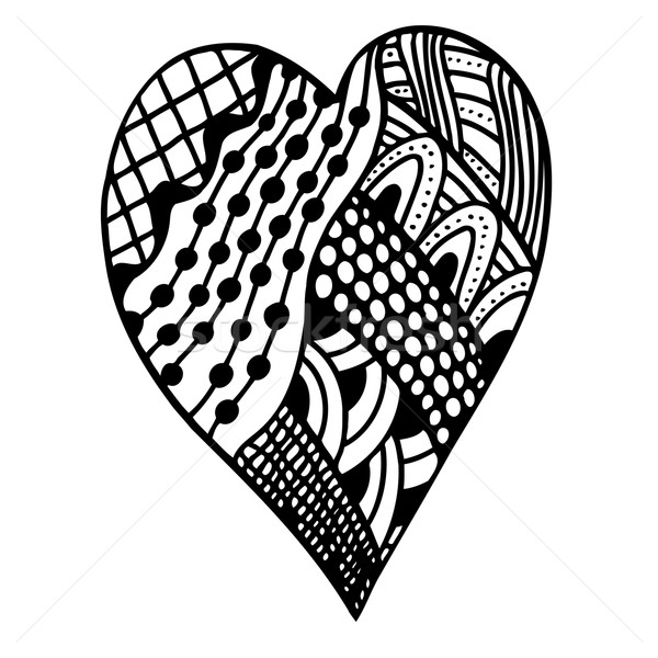 heart in zentangle style Stock photo © frescomovie