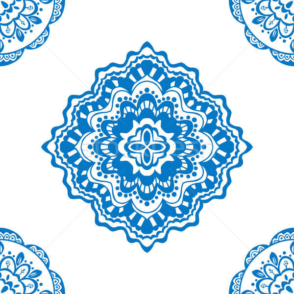 seamless blue pattern Stock photo © frescomovie