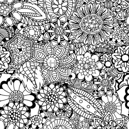 floral zentangle vector illustration Stock photo © frescomovie