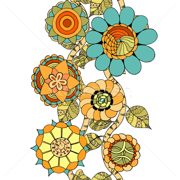 Vector Seamless Floral Pattern. Stock photo © frescomovie