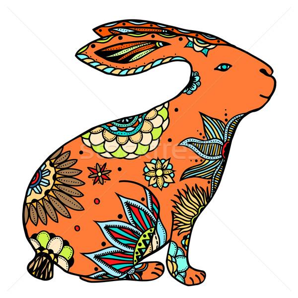 doodle rabbit illustration Stock photo © frescomovie
