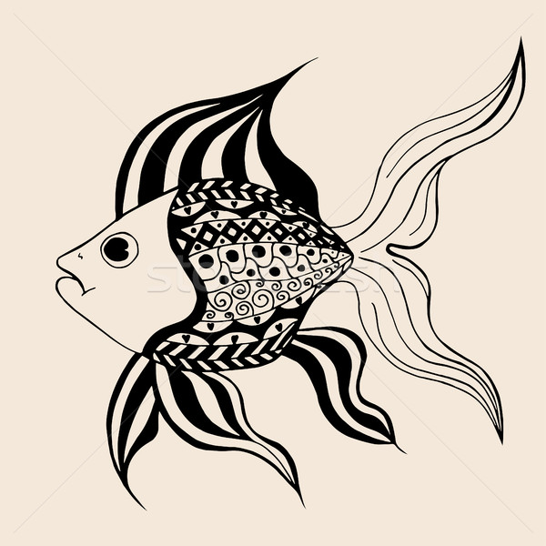 ornamental graphic fish. Stock photo © frescomovie