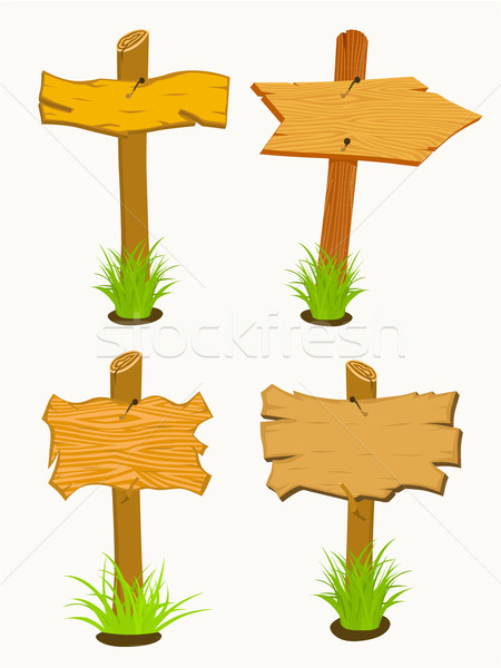 Set of Wooden sign boards.  Stock photo © frescomovie