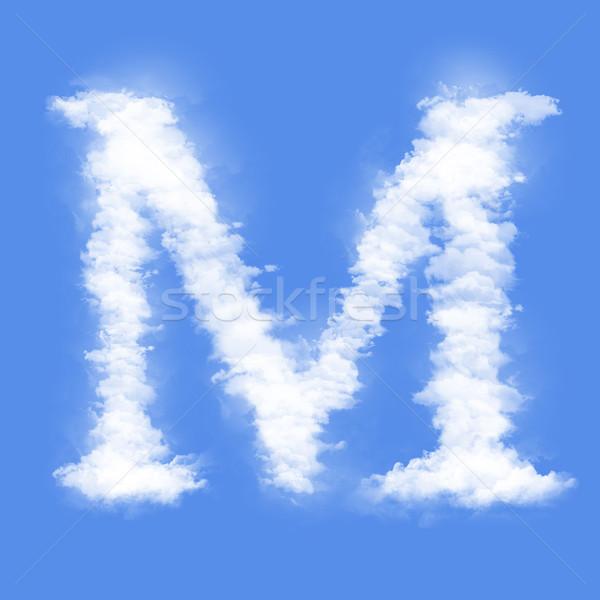 Levél felhők forma m betű égbolt füst Stock fotó © frescomovie