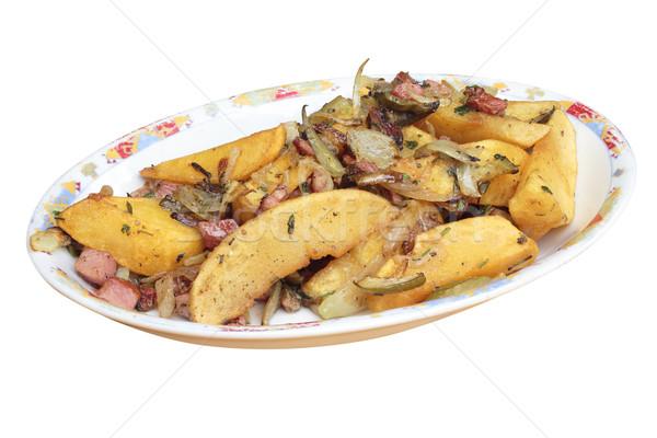 Essen Platte Kartoffeln alle Schwerpunkt Stock foto © frescomovie