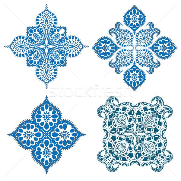 Ornament ingesteld mandala meetkundig cirkel element Stockfoto © frescomovie