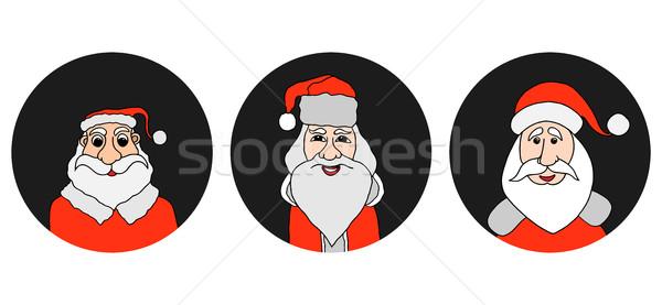 Дед Мороз красочный старик белый борода Сток-фото © frescomovie