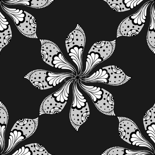 Vector garabato mandala dibujado a mano indio Foto stock © frescomovie