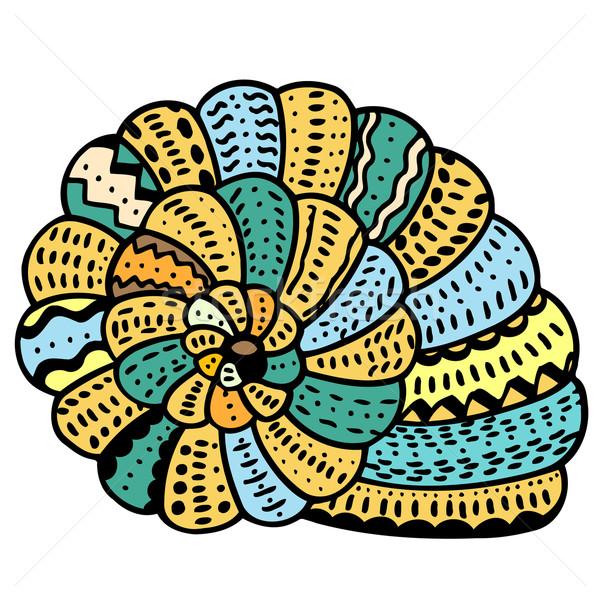 Seashell line art Stock photo © frescomovie