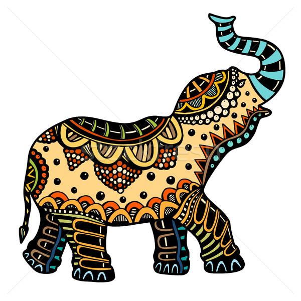 decorated Indian Elephant Stock photo © frescomovie
