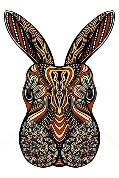 Törzsi nyúl kisebbségi állat nyuszi fej Stock fotó © frescomovie