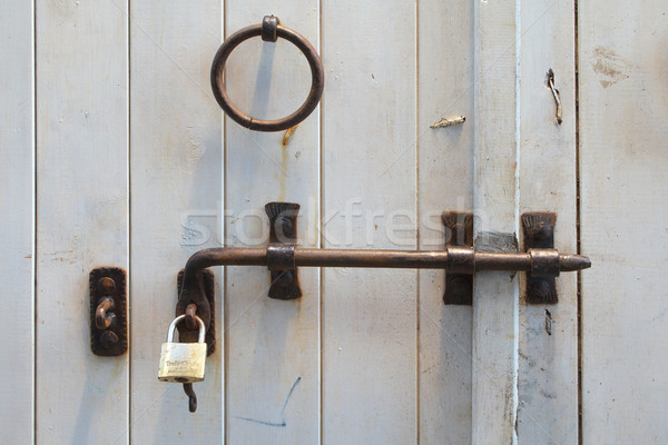Old wooden gate. Stock photo © frescomovie