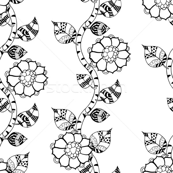 Monochrome Floral Pattern. Stock photo © frescomovie