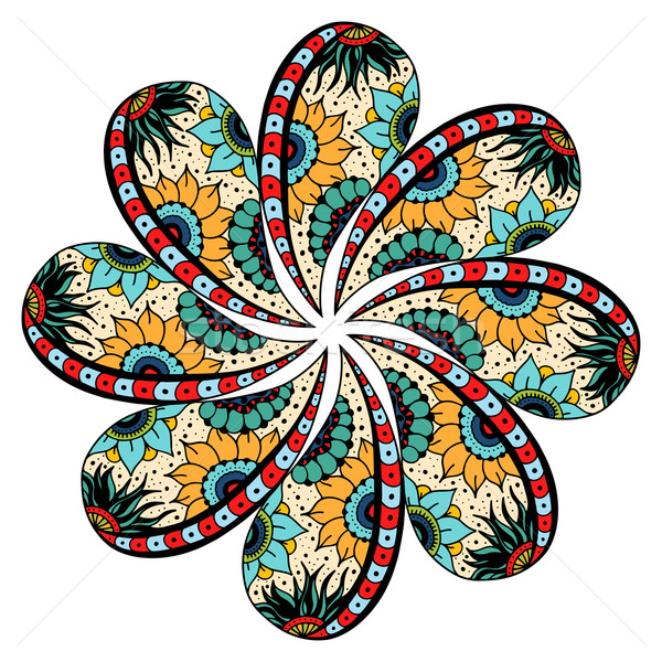 Mandala round ornament Stock photo © frescomovie