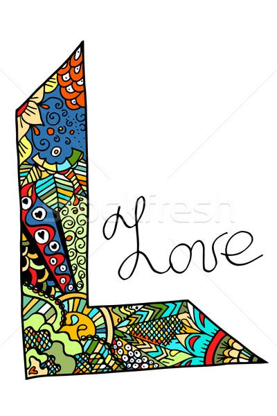 Word love zentangle stylized Stock photo © frescomovie
