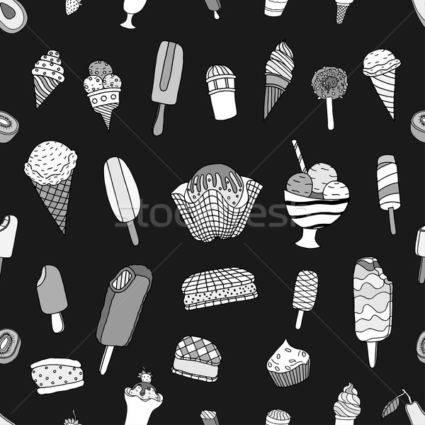 Stok fotoğraf: Dondurma · model · tek · renkli · doku