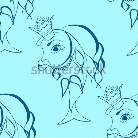 Goldfish fairy with crown. Stock photo © frescomovie