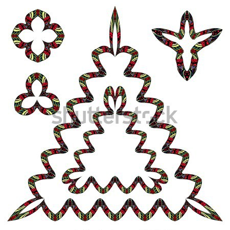 рисованной болван кадры набор монохромный текстуры Сток-фото © frescomovie