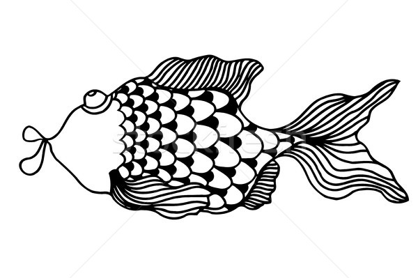 cute fish cartoon Stock photo © frescomovie