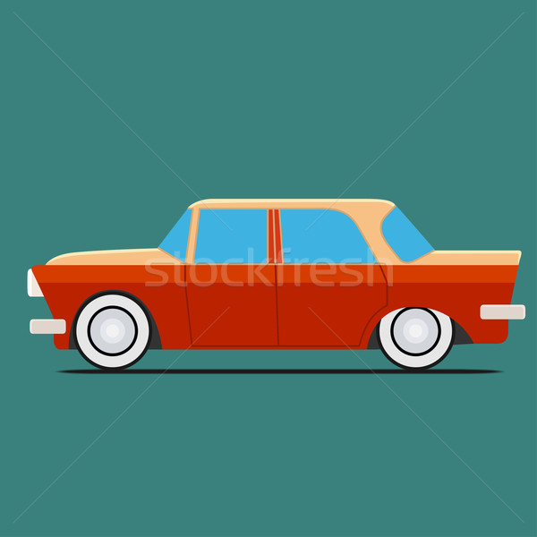Régi autó izolált zöld terv retro vicces Stock fotó © frescomovie