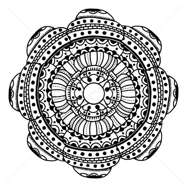 circle flower ornament Stock photo © frescomovie
