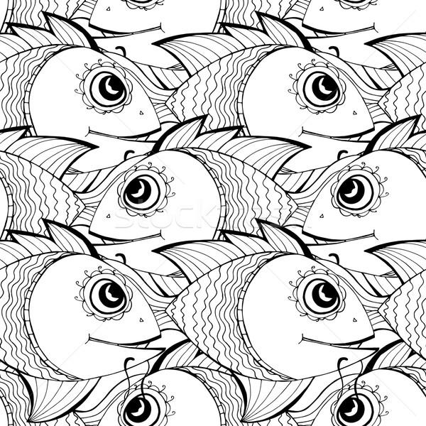 Sin costura peces agua textura diseno fondo Foto stock © frescomovie