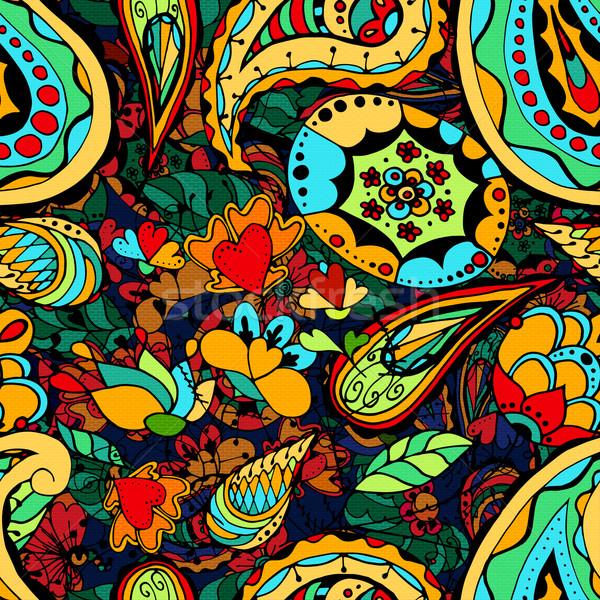Vintage floral padrão textura tecido Foto stock © frescomovie