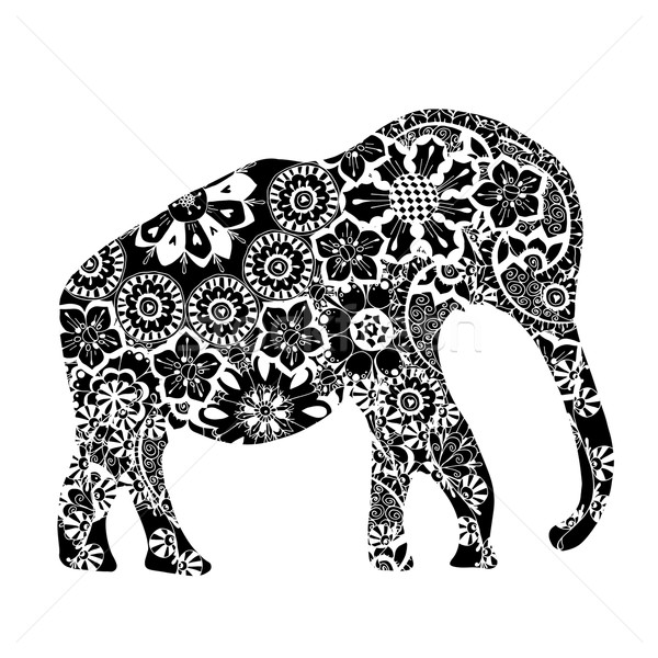 Black ethnic elephant.  Stock photo © frescomovie