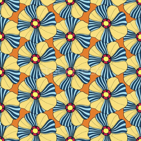 Vector Seamless Floral Pattern Stock photo © frescomovie